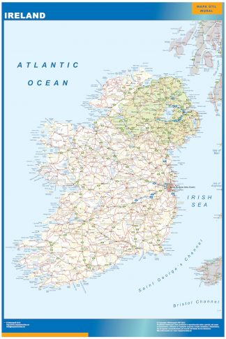 Large Map Of Ireland.Large Map Of Ireland Vector Eps Download Our Digital Files