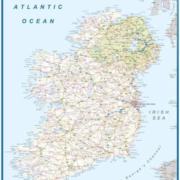 wall map ireland