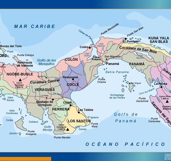 wall map panama