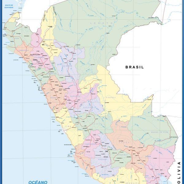 wall map peru