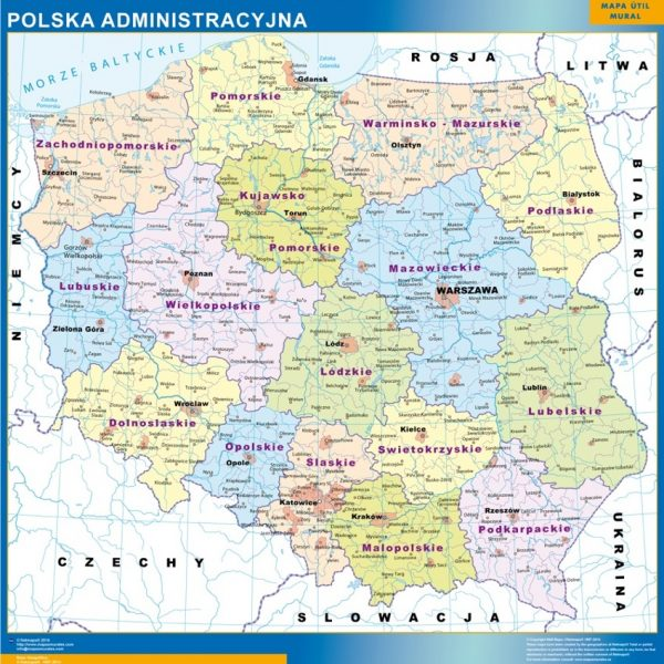 wall map poland