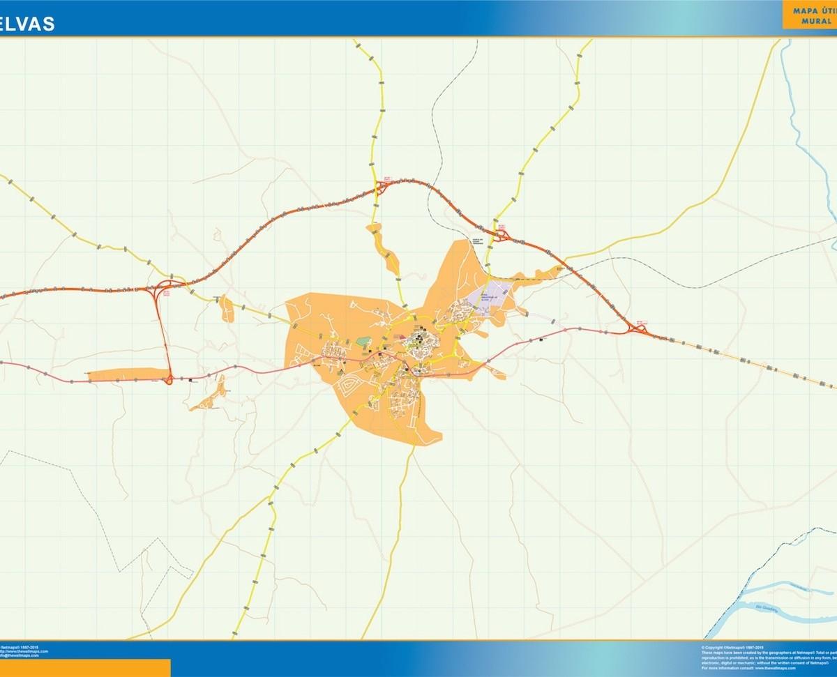 Elvas Mapa Vector World Maps