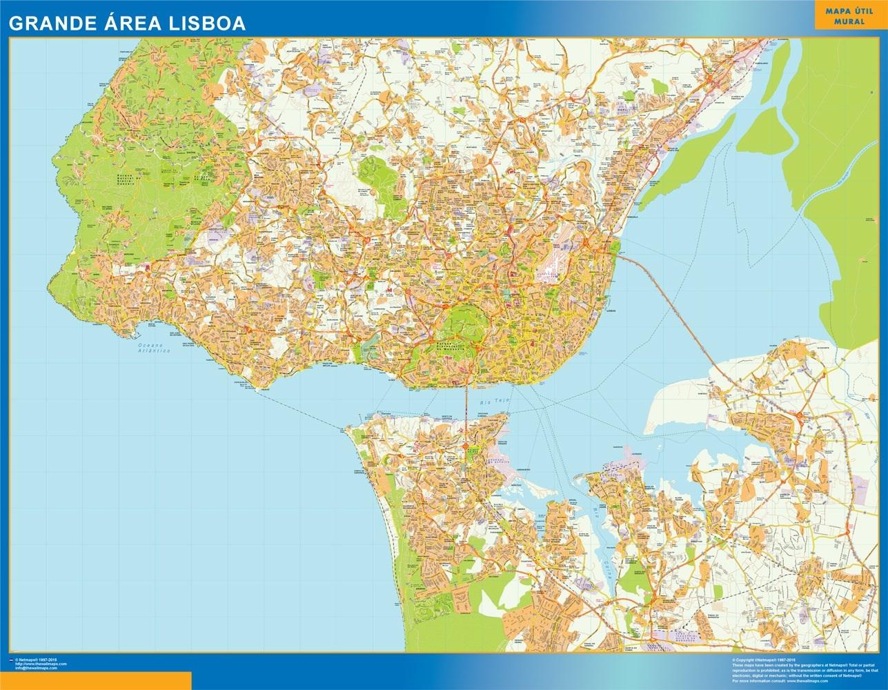 mapa de grande lisboa Grande Area Lisboa mapa | A vector eps maps designed by our  mapa de grande lisboa