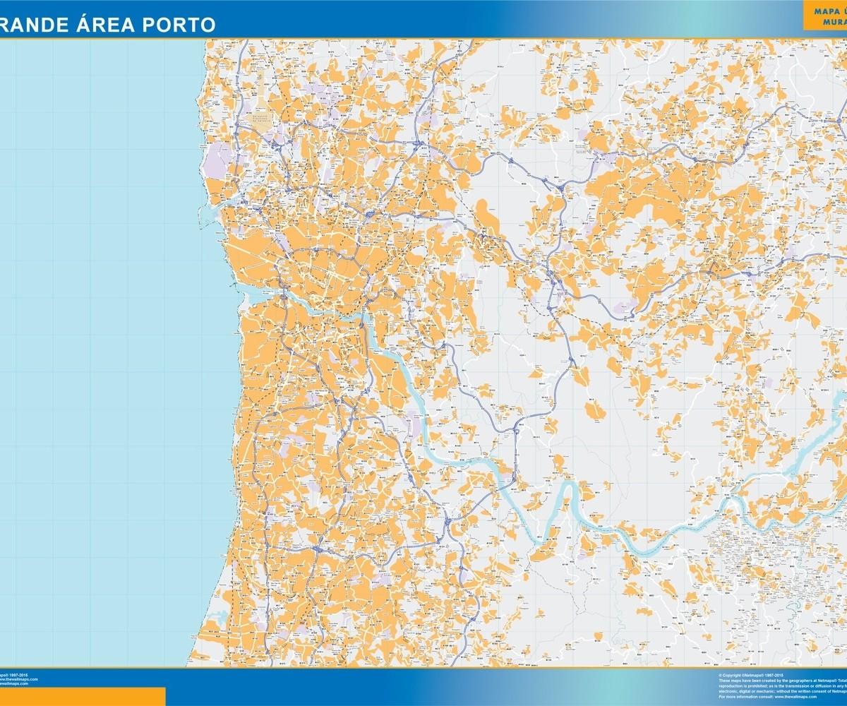 Grande Area Porto Mapa Vector World Maps