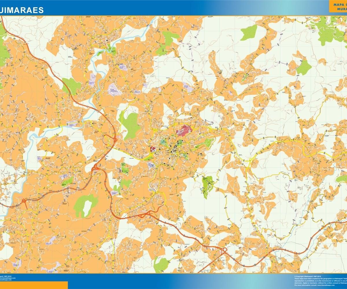 Guimaraes Mapa Vector World Maps
