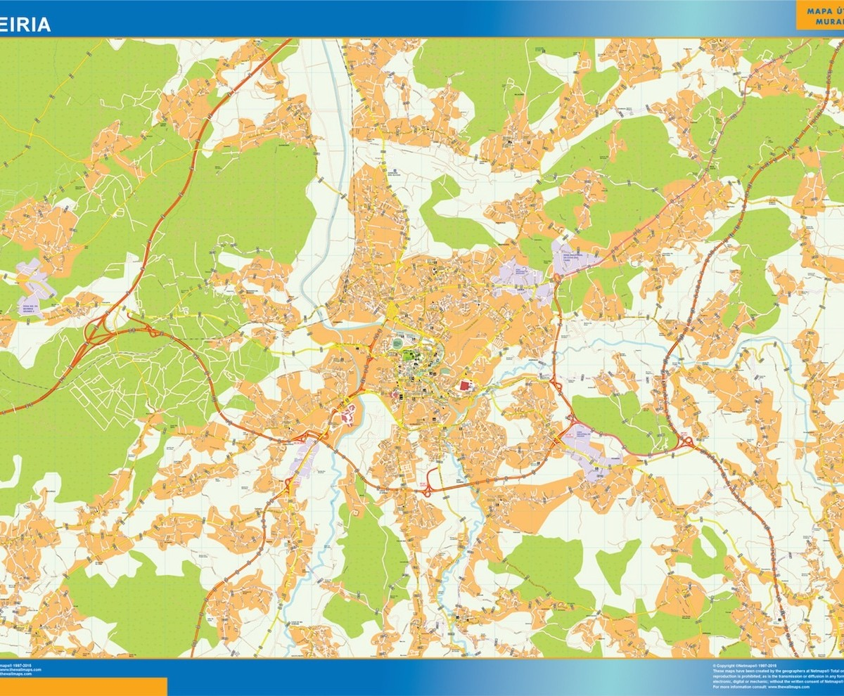Leiria mapa | A vector eps maps designed by our ...
