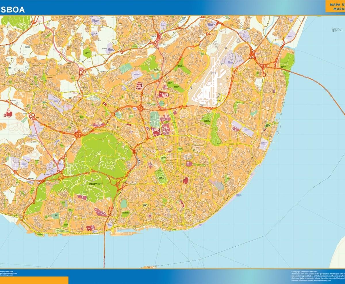 Lisboa Mapa Vector World Maps