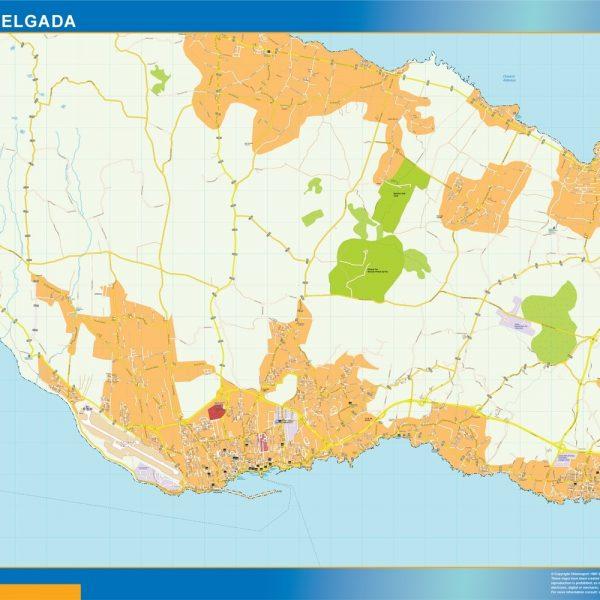 Ponta Delgada mapa
