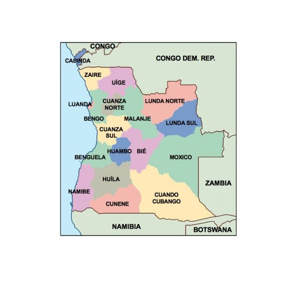 angola presentation map