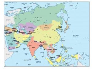 asia presentation map