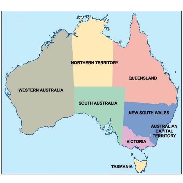 australia presentation map