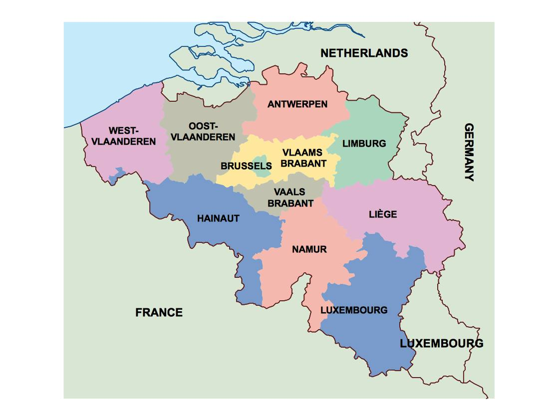 Picture of: Belgium Presentation Map Vector World Maps
