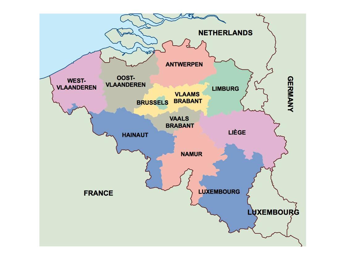 belgium presentation map | Vector World Maps