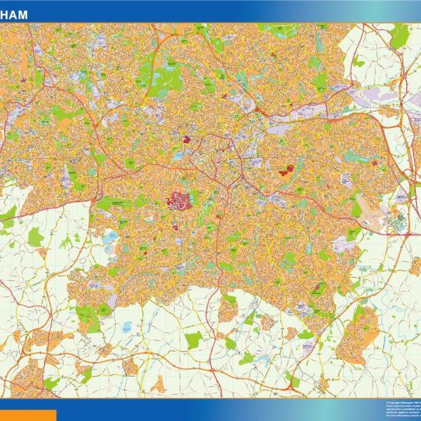birmingham wall map