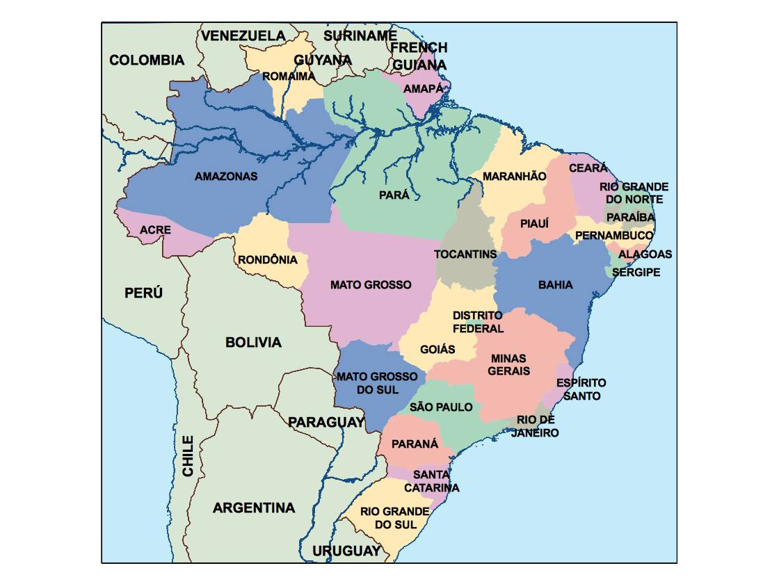 brazil presentation map Our cartographers have made brazil
