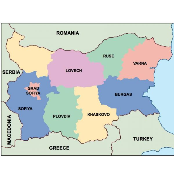 bulgaria presentation map