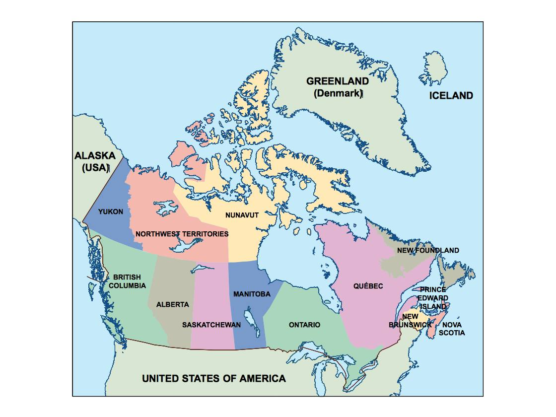 Picture of: Canada Presentation Map Vector World Maps