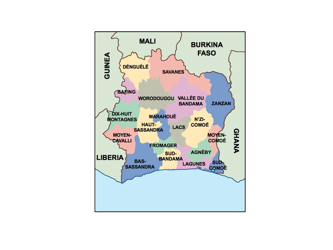 find cote ivoire presentation map for a project netmaps vector