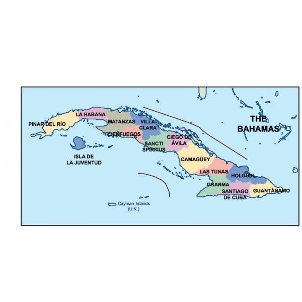 cuba presentation map