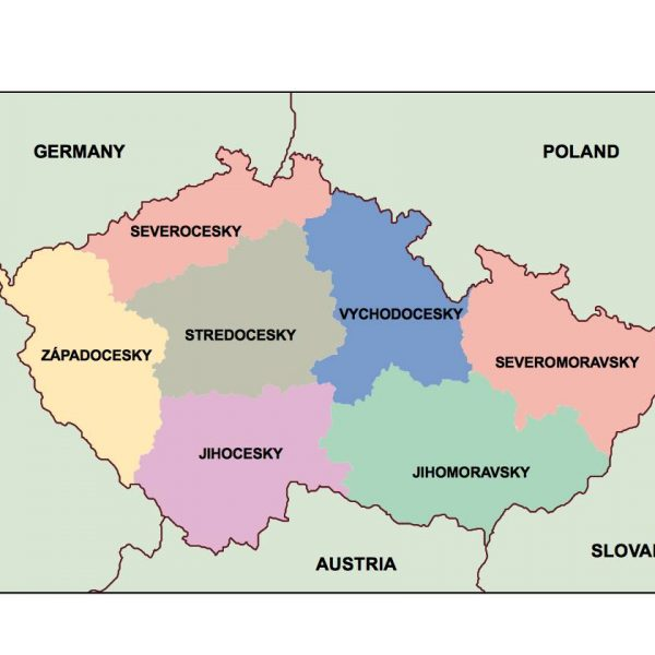 czech republic presentation map