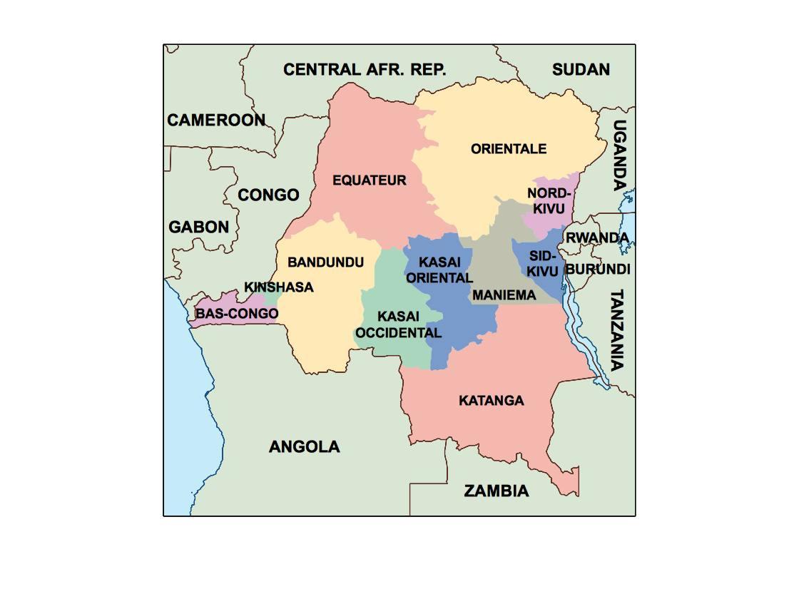 Picture of: Democratic Republic Of Congo Presentation Map Vector World Maps
