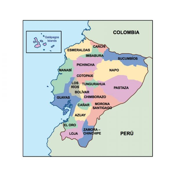ecuador presentation map
