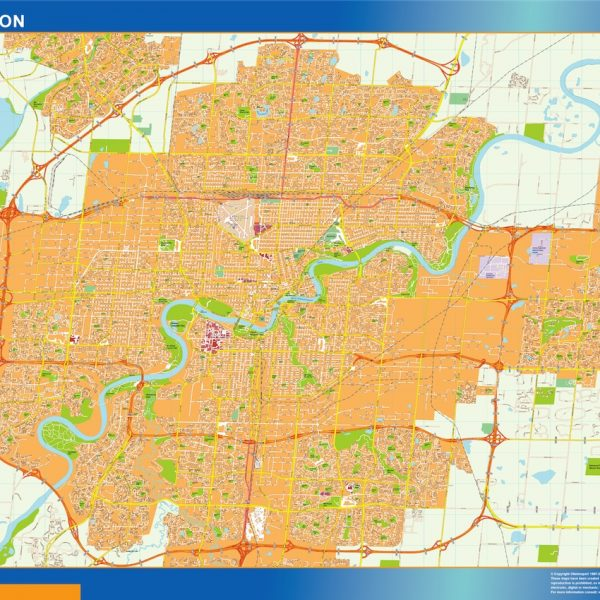 edmonton wall map