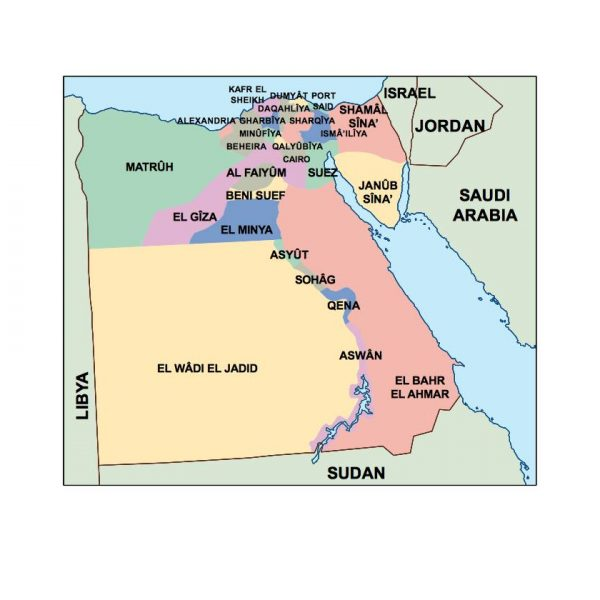 egypt presentation map