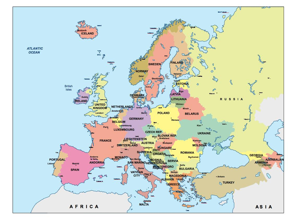 europe presentation map Our cartographers have made europe