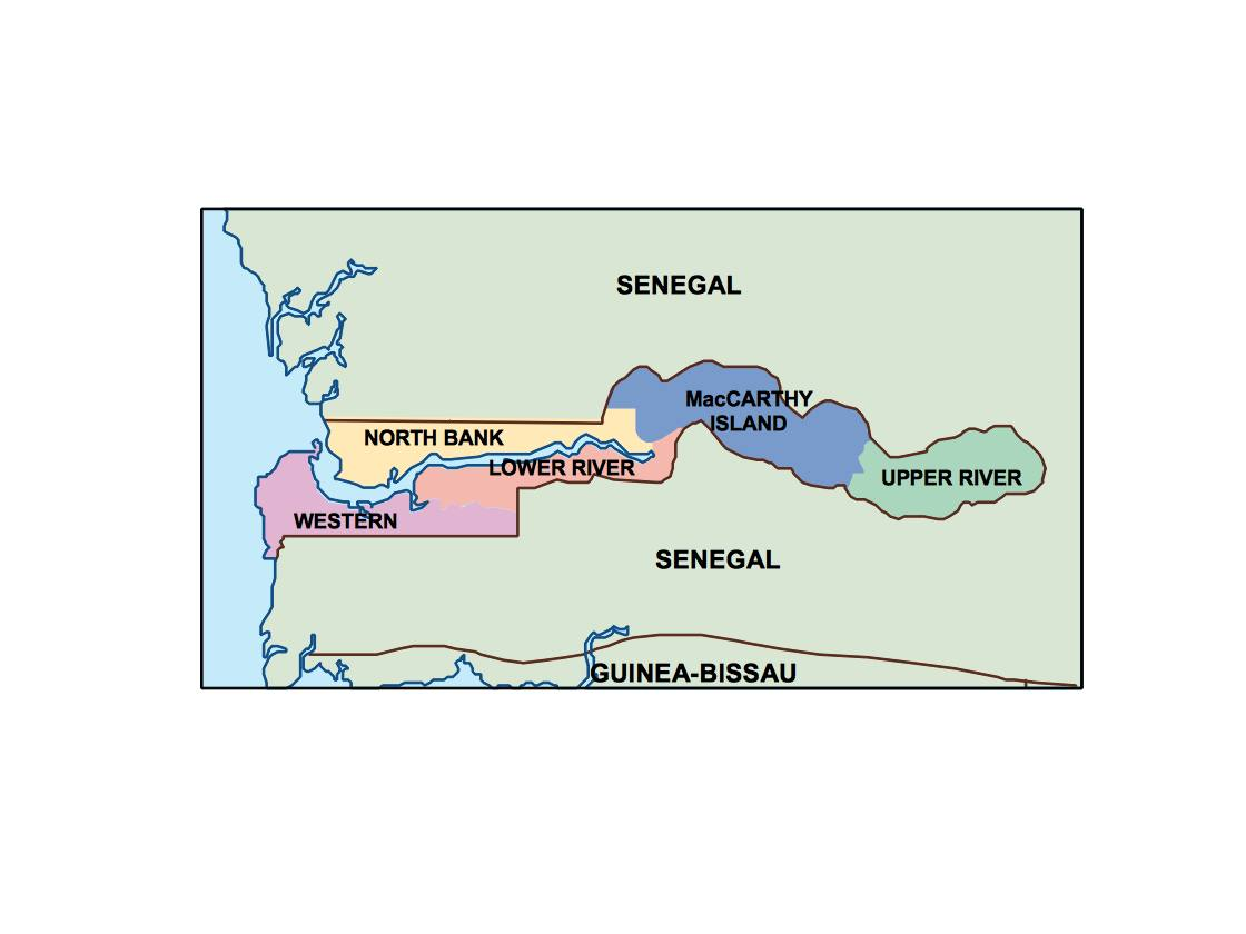 Gambia presentation map our cartographers have made gambia gambia presentation map gumiabroncs Gallery