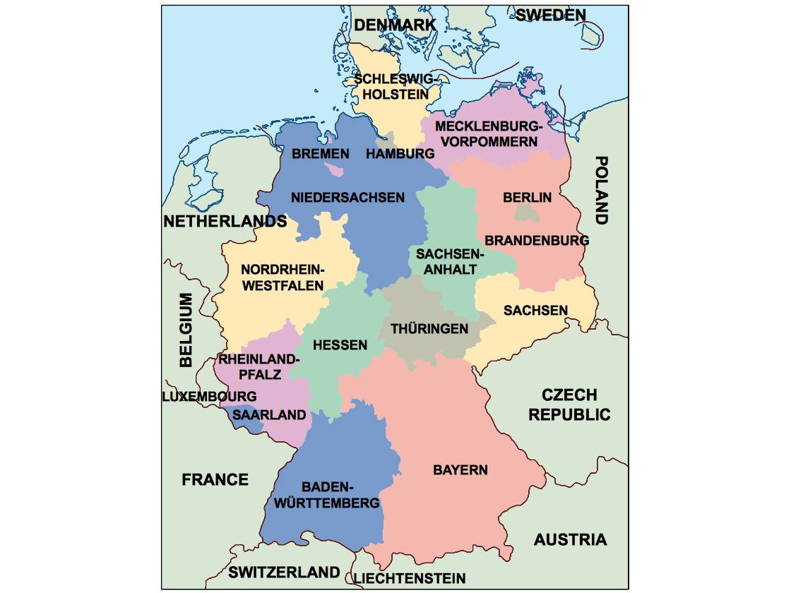 Germany Presentation Map Vector World Maps