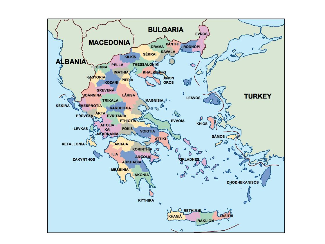 greece presentation map Our cartographers have made greece
