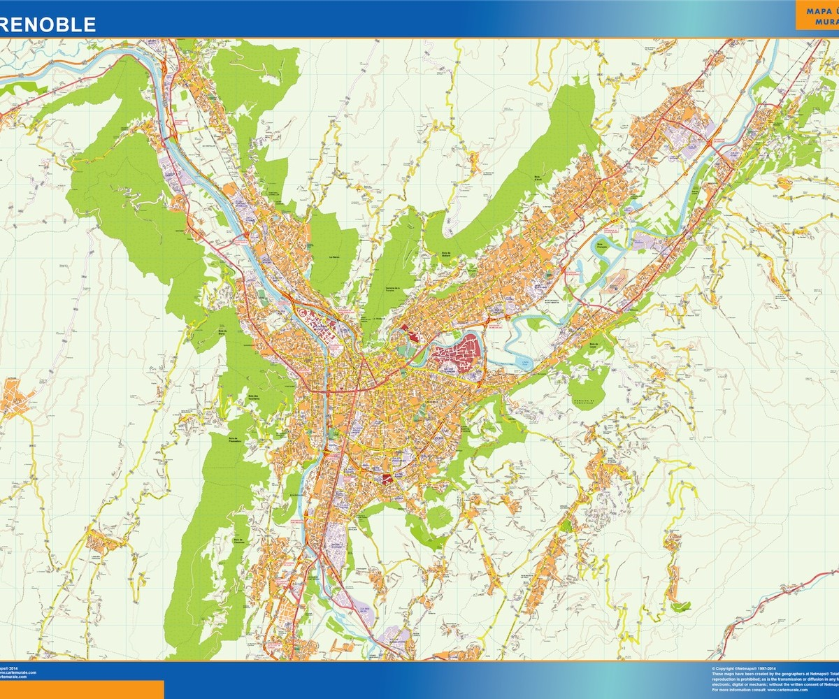 grenoble wall map Our cartographers have made grenoble wall map