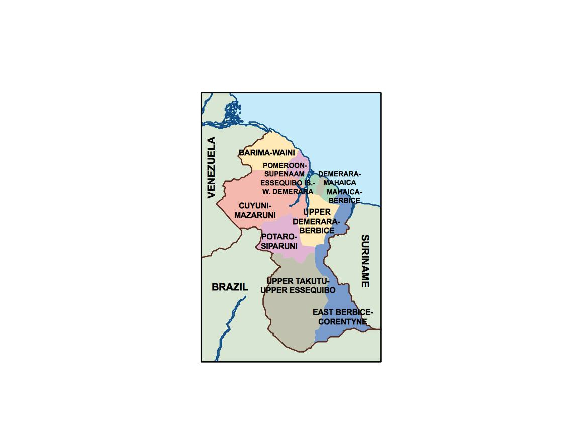 Guyana Presentation Map Vector World Maps