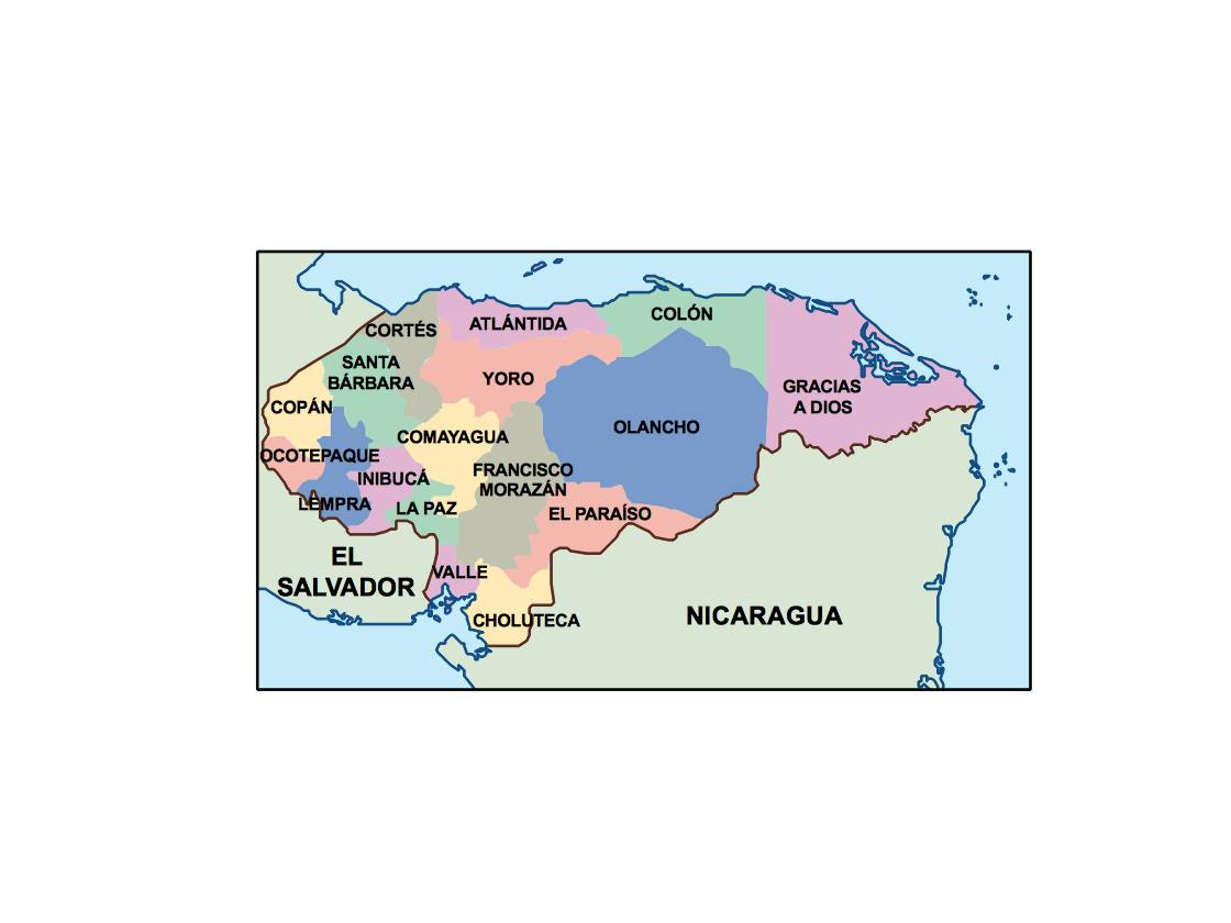 Picture of: Honduras Presentation Map Vector World Maps