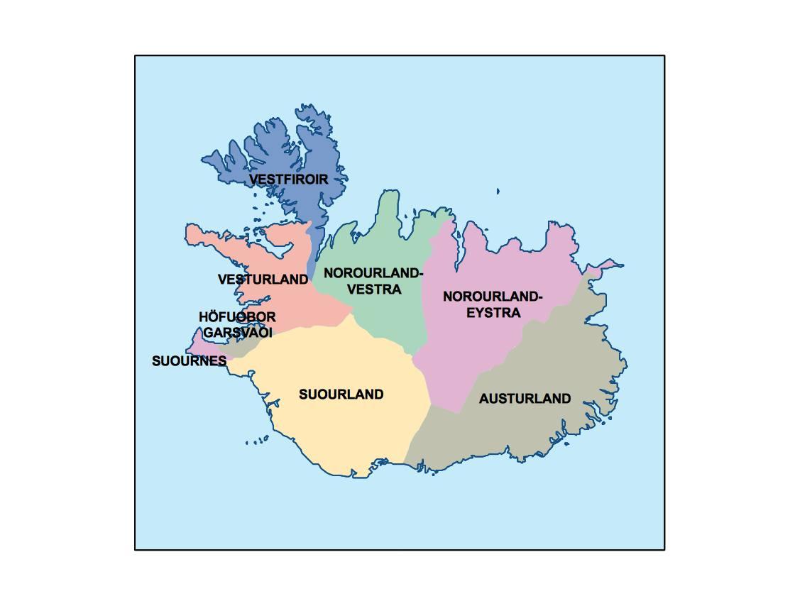iceland presentation map   Vector World Maps