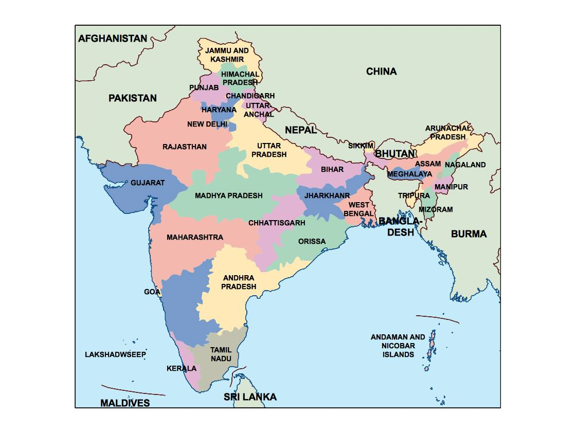 find india presentation map for a project netmaps vector eps maps
