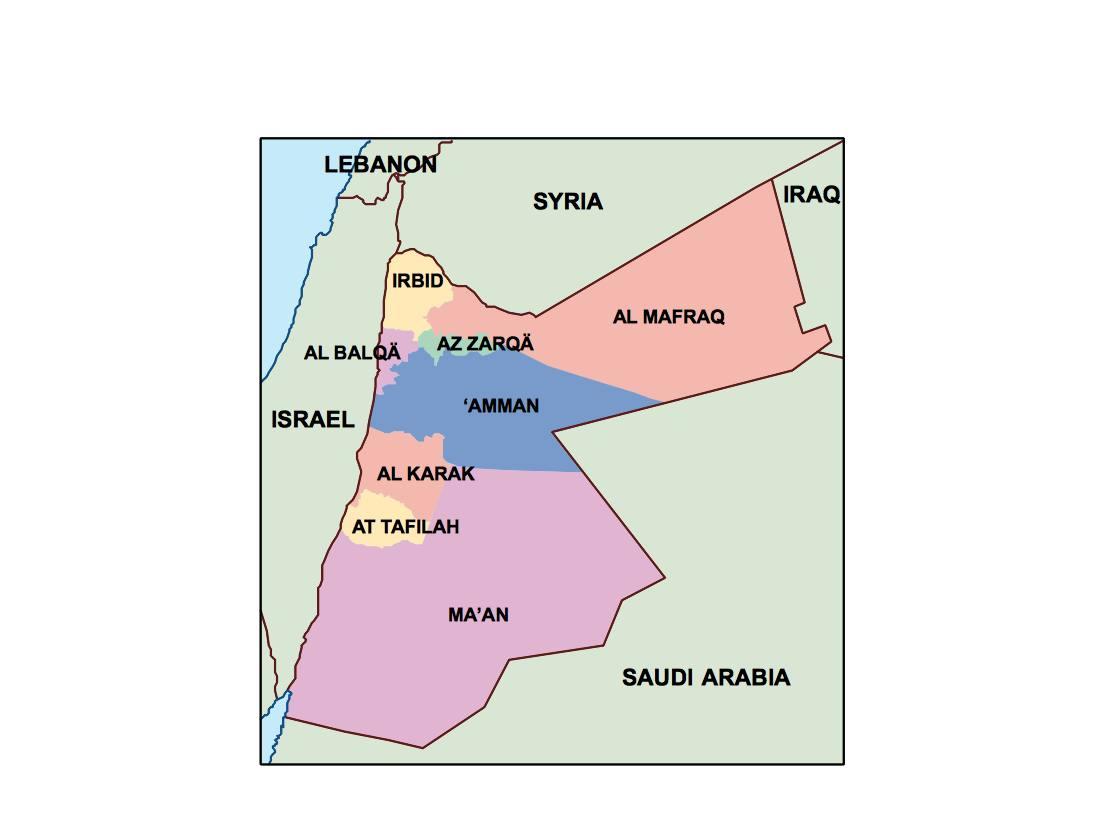 Map Of Asia Jordan.Jordan Presentation Map