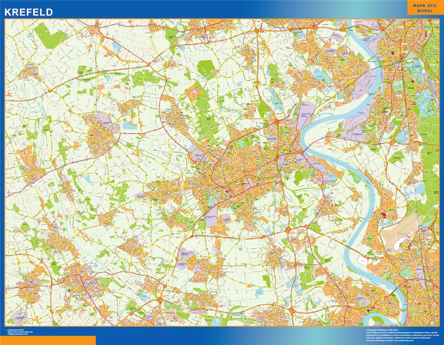 krefeld wall map Our cartographers have made krefeld wall map