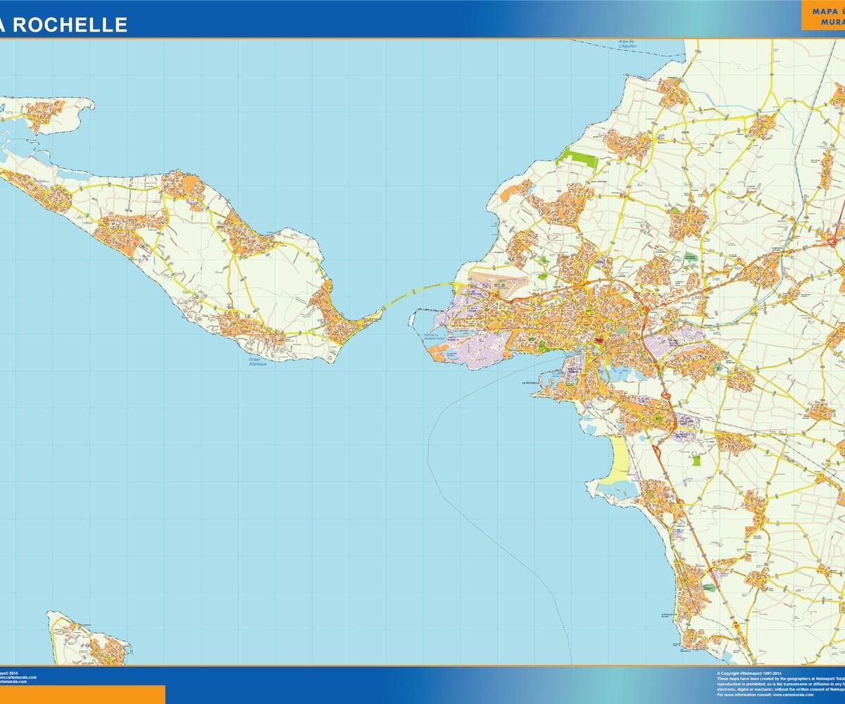 Map Of France La Rochelle.La Rochelle Wall Map