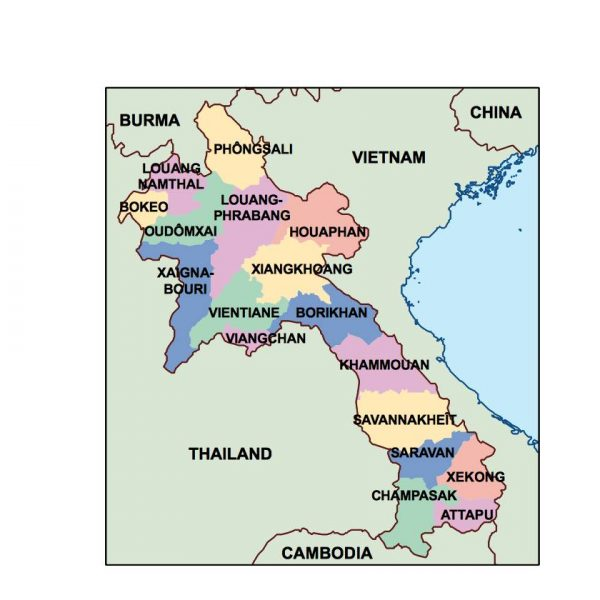 laos presentation map
