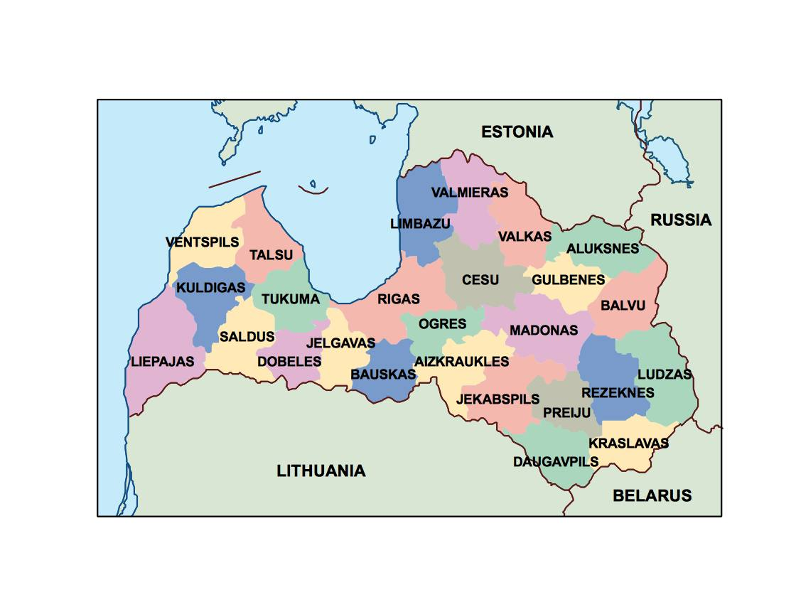 Picture of: Latvia Presentation Map Vector World Maps