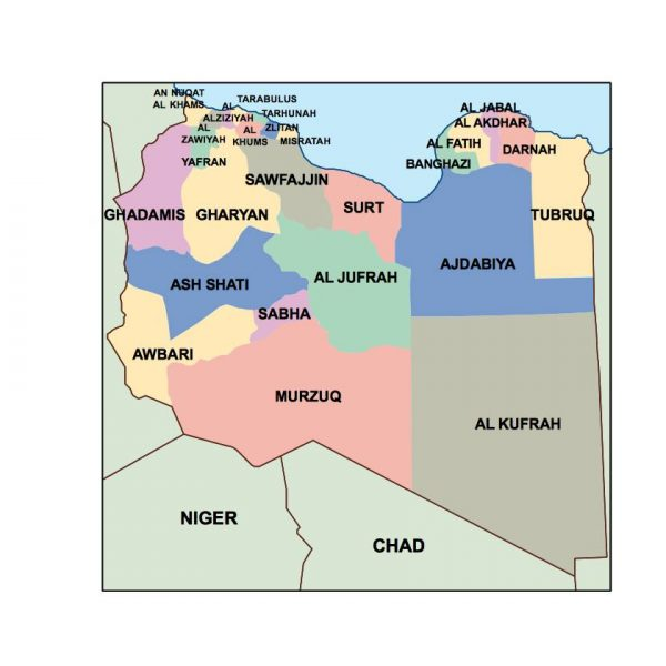 libya presentation map