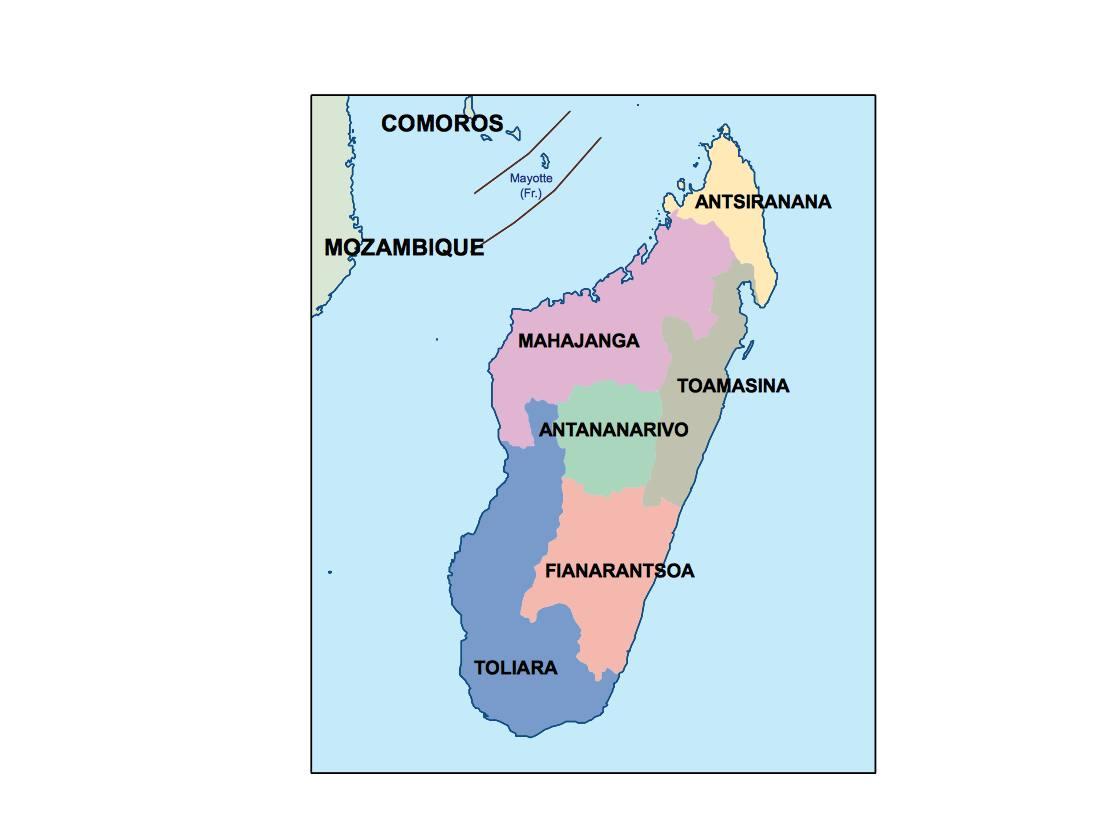 Madagascar Presentation Map Vector World Maps