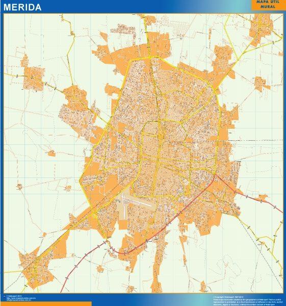 mapa Merida centro