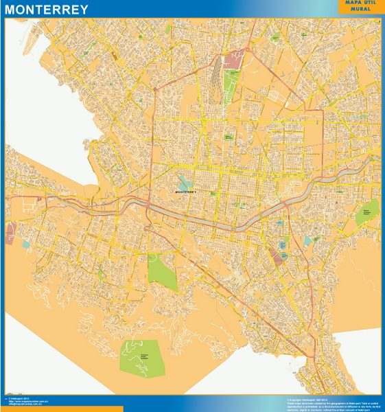 mapa Monterrey centro