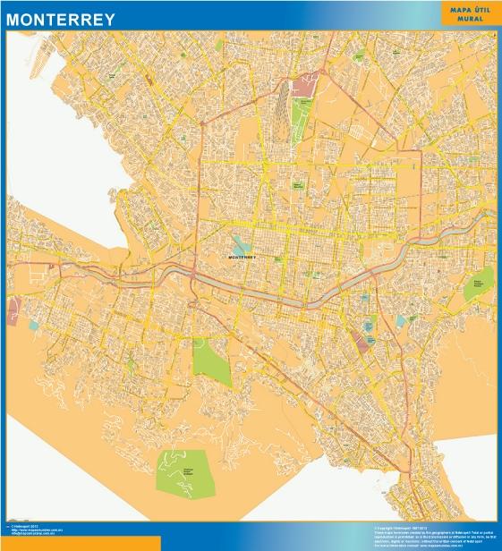 Mapa Monterrey Centro Vector World Maps