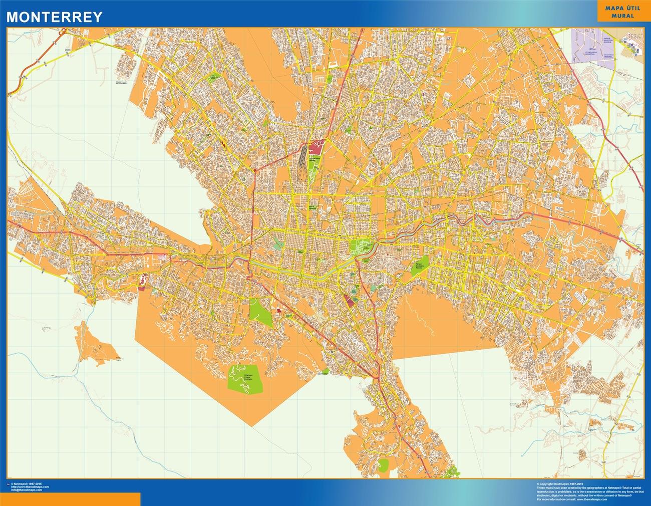 Mapa Monterrey Vector World Maps