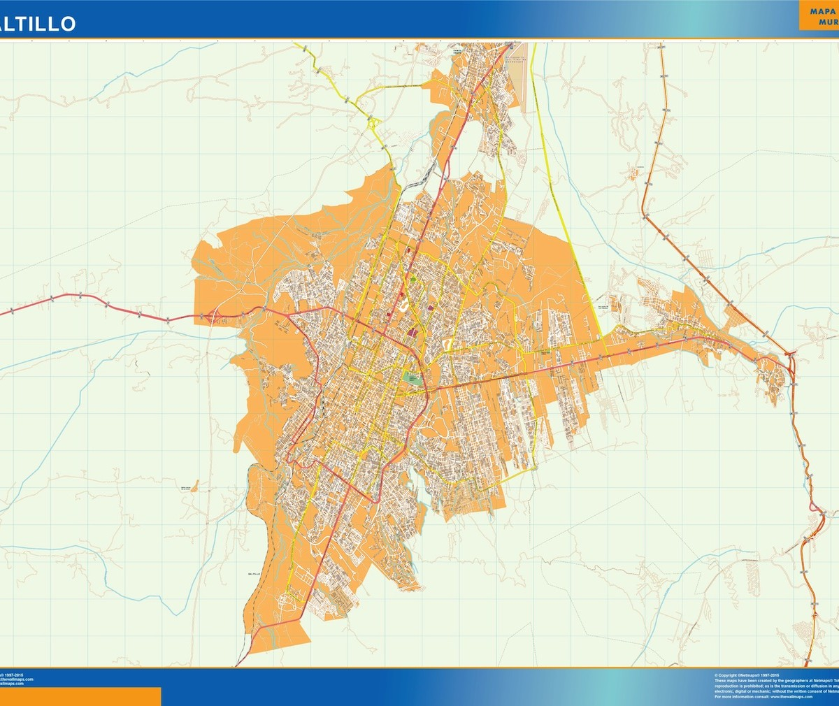 mapa Saltillo Our cartographers have made mapa Saltillo