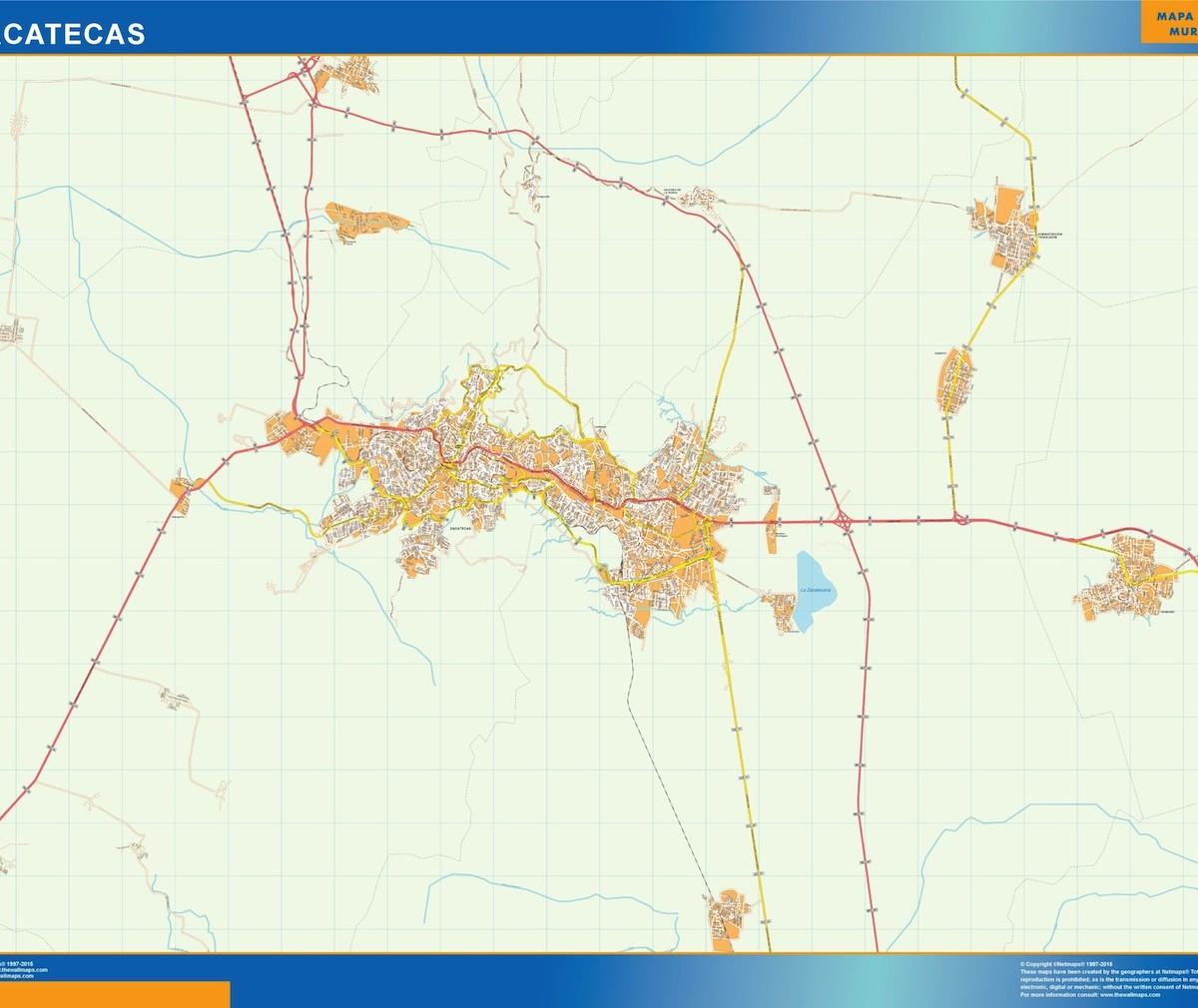mapa Zacatecas   Vector World Maps on